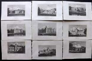 Neale, John C1830 Lot of 9 British Views. Northants