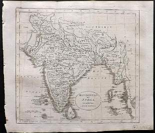 Guthrie, William 1806 Map. Hindostan or India
