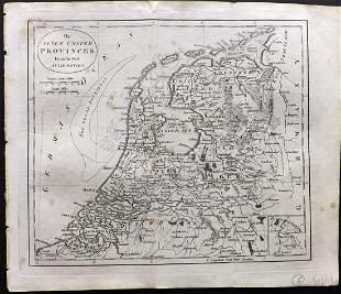 Guthrie, William 1806 Map. Holland Netherlands