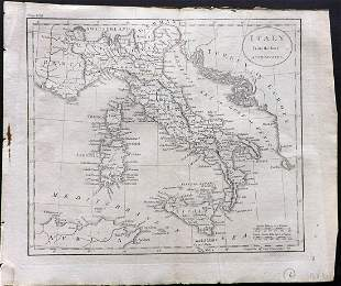 Guthrie, William 1806 Map. Italy