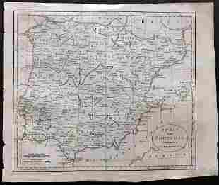 Guthrie, William 1806 Map. Spain & Portugal