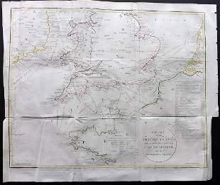 Russell, J. 1810 Large Map of the English Channel