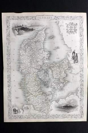 Tallis, John (Pub) 1852 Map. Denmark