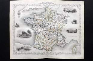 Tallis, John (Pub) 1852 Map. France