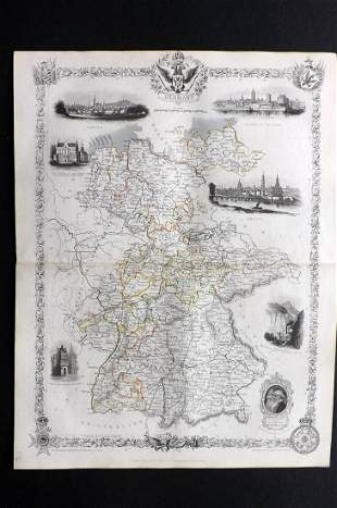 Tallis, John (Pub) 1852 Map. Germany