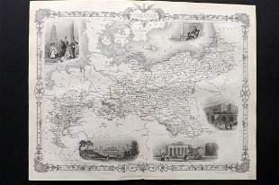 Tallis, John (Pub) 1852 Map. Prussia, Germany