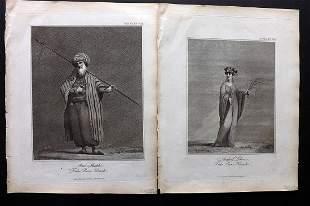 Bruce, James 1813 Pair of Ethnic Prints. Egypt