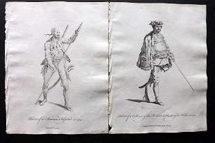 Jefferys, Thomas C1760 Pair of Prints. Austria Hungary