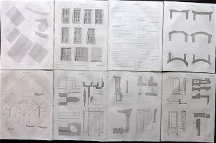 Lomax, Edward 1852 Lot of 8 Architecture/Building