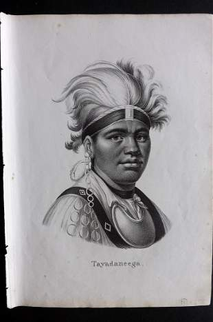 Schinz & Brodtmann 1827 Tayadaneega. Mohawk USA