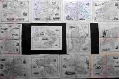 Tallis, John (Pub) 1852 Lot of 12 European Maps