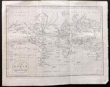 Guthrie, William 1806 Map World on Mercators Projection