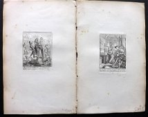 Hollar & Holbein - Dance of Death 1816 Pair of Prints