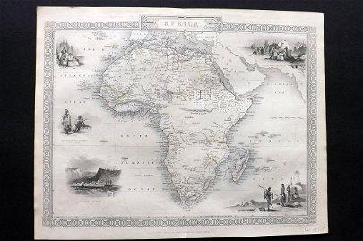Tallis, John (Pub) 1852 Map. Africa Continent