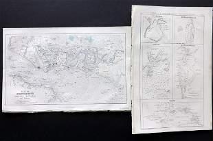 Fullarton (Pub) 1858 Pair of British & Irish Maps