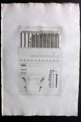 Desgodetz, Antoine 1795 LG Rome Architecture Print 14-1
