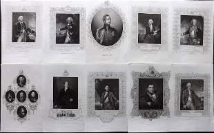 Gaspey, Thomas 1853 Lot of 10 Portraits