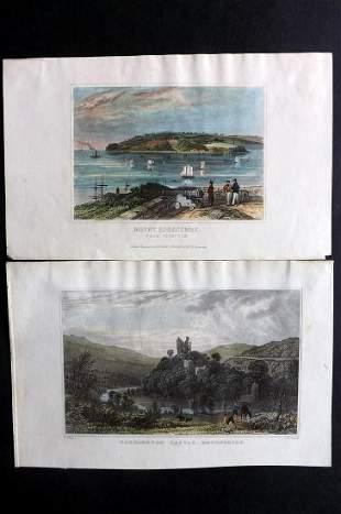 Devon C1830-40 Pair of Hand Col Prints by Allom etc