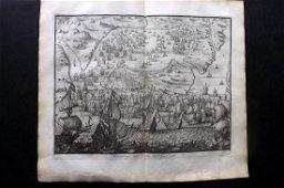 Le Clerc, Jean 1730 LG Print. Naval Ships. Cadiz