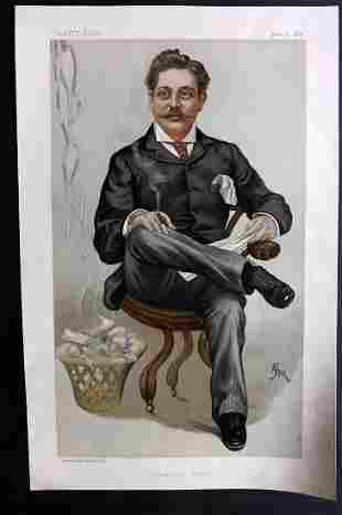 Vanity Fair Print 1889 Harry Marks, Newspaperman
