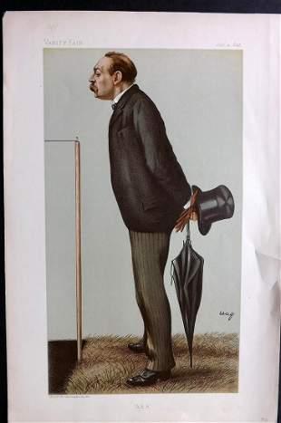 Vanity Fair Print 1895 Montague Shearman, Atheltics