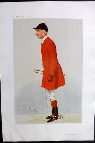 Vanity Fair Print 1906 Evan Hanbury, Foxhunter