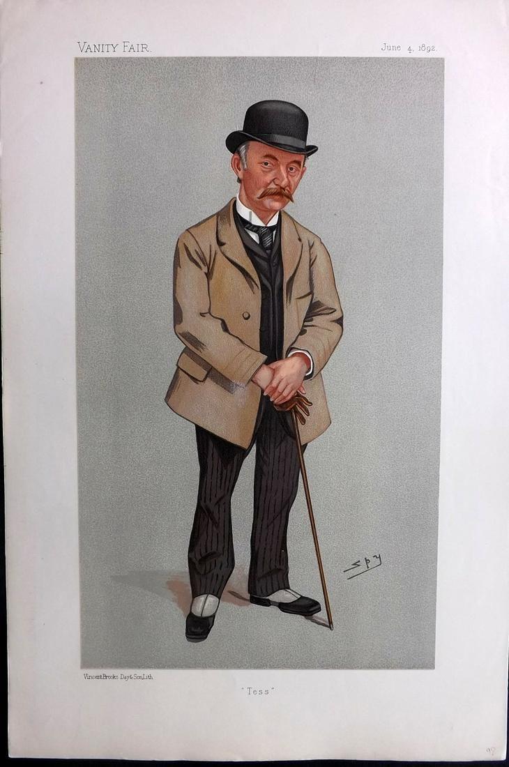 Vanity Fair Print 1892 Thomas Hardy, Literary