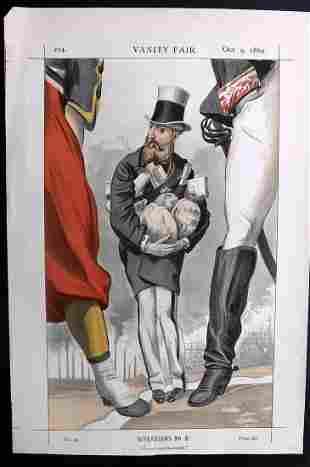 Vanity Fair Print 1869 Leopold II of Belgium, Royal