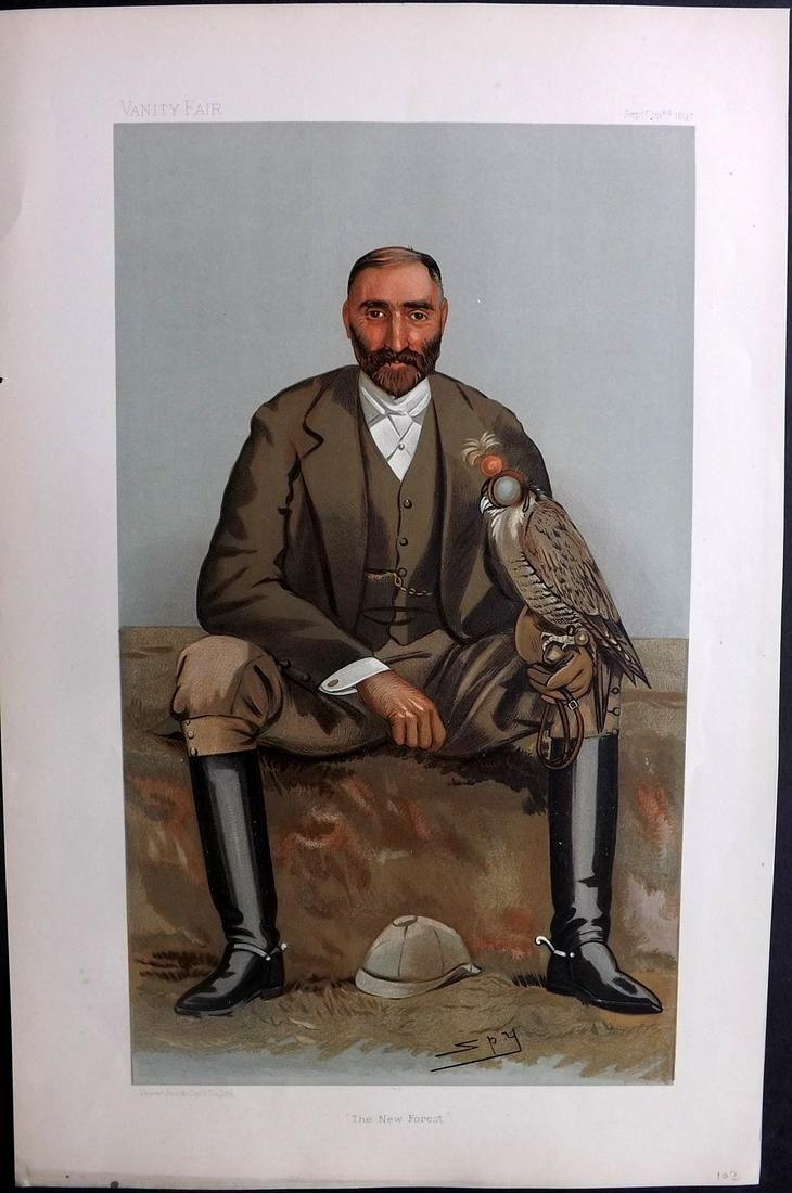 Vanity Fair Print 1897 Gerald Lascelles, Falconry