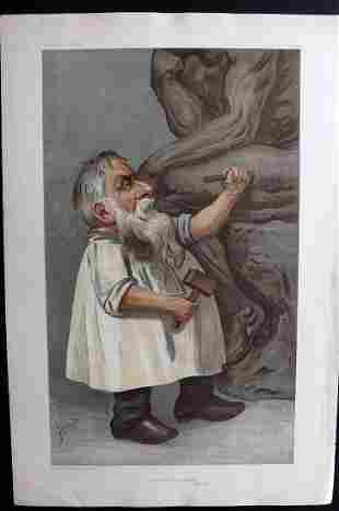 Vanity Fair Print 1904 Auguste Rodin. Artist Sculptor