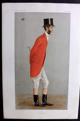 Vanity Fair Print 1904 Viscount Portman, Fox Hunter