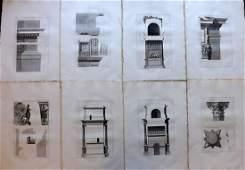 Desgodetz, Antoine 1795 - 8 LG Rome Architecture Prints