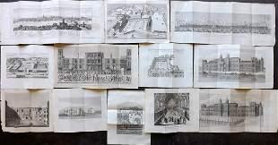 London 1829 Lot of 12 Folding Views by Brayley
