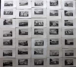 Neale, John C1830 Lot of 35 British Engraved Views