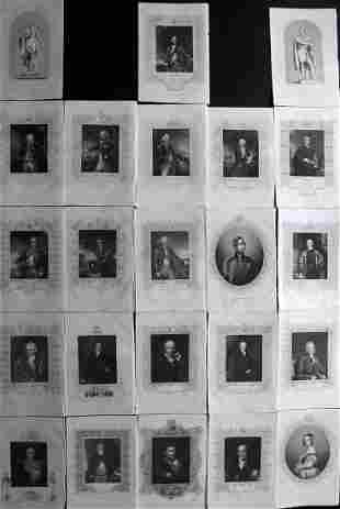 Tallis (Pub) 1854 Lot of 23 Steel Engraved Portraits