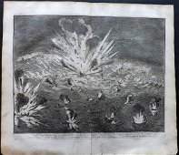 Le Clerc, Jean 1730 LG. Explosion of Gianibelli's Ships