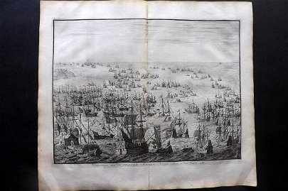 Le Clerc, Jean 1730 LG Print. Spanish Ships in 1588