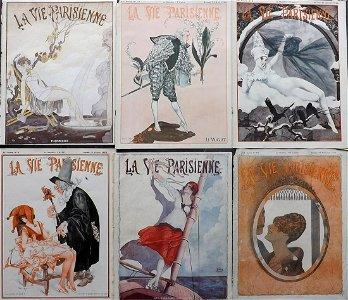 La Vie Parisienne C1920 Lot of 6 Art Deco Prints Covers