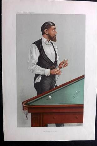 Vanity Fair Print 1905 John Roberts, Billiards