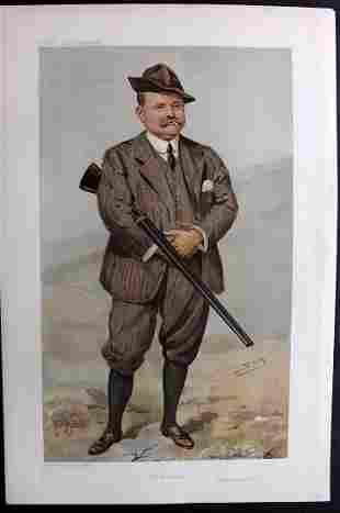 Vanity Fair Print 1905 R. Rimington Wilson, Game Hunter