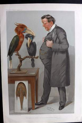 Vanity Fair Print 1905 Prof. Ray Lankester, Science