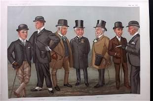Vanity Fair Double Print 1896 On The Heath