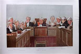 Vanity Fair Double Print 1902 Heads of The Law. Legal