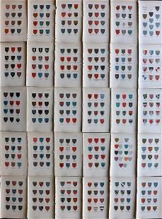 Woodward, John 1892 Lot of 30 Heraldry Prints