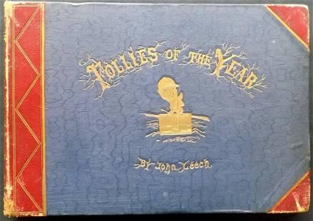 Leech, John 1866 Follies of the year, 21 HC Plates