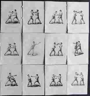 Boxing 1897 Lot of 12 Prints. Badminton Library