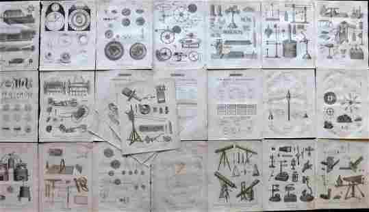 Wilkes, John C1810 Lot of 24 Science etc Prints