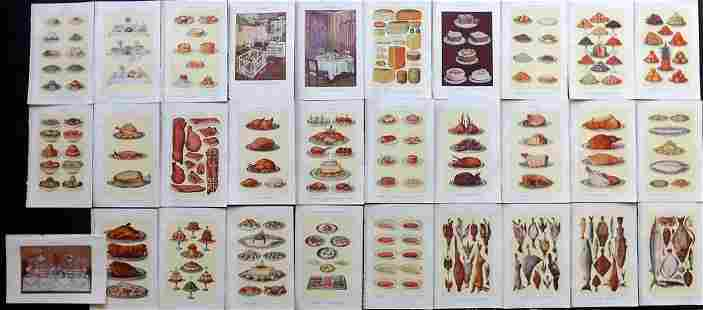 Beeton, Mrs C1930 Lot of 30 Color Food Prints