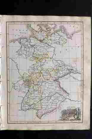 Thomson, John (Pub) 1825 Map. Germany