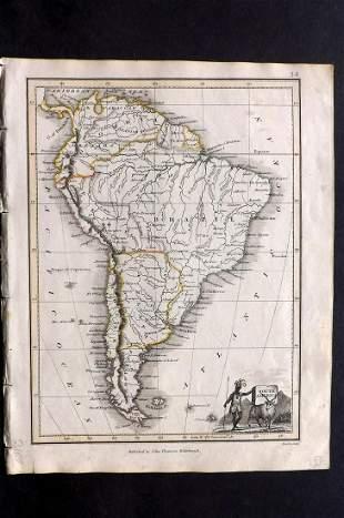Thomson, John (Pub) 1825 Map. South America